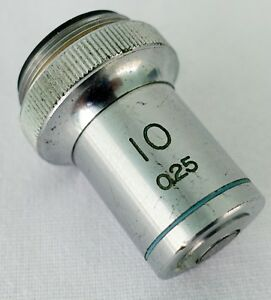 Tasco-10X-25-Objective-Lens-Microscope-RMS-Thread-Made-in-Japan