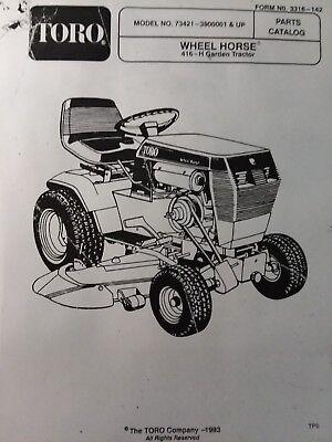 toro wheel horse 416-h (73421-3900001 & up) lawn garden tractor ... toro 400xt wiring diagram  ebay