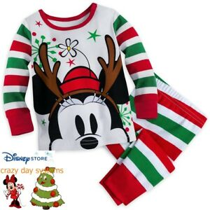 b76e80e85 Image is loading Disney-Store-Minnie-Mouse-Pajamas-Baby-Girls-Size-