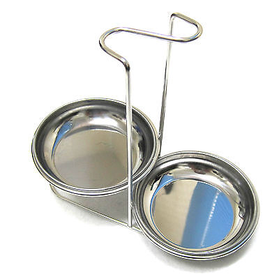 Galleon 2 In 1 Ladle Rest With Flatware Holder Stainless Steel Utensils Caddy