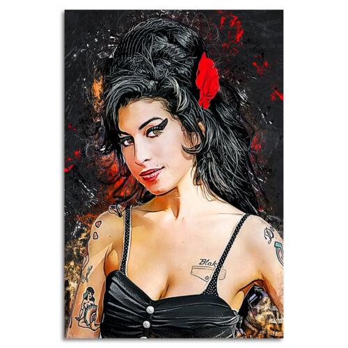 Canvas Amy Winehouse Art print POSTER