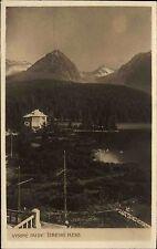Vysoké Tatry Hohe Tatra Slowakei Slovensko AK ~1930 Štrbské Pleso Tschirmer See
