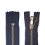 RV Reißverschluss 33cm unteilbar Metallzähne dunkelblau