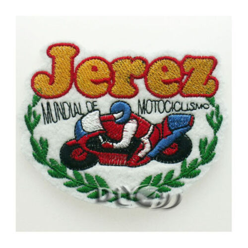 Jerez Motorcycle Biker Iron On Sew on Badge Applique Patch For Sewing