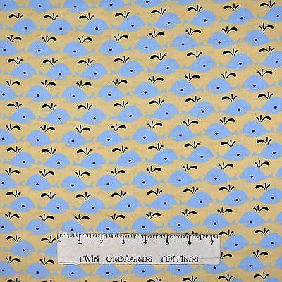 Nautical Fabric Timeless Treasures YARD Nursery Baby Blue Whales