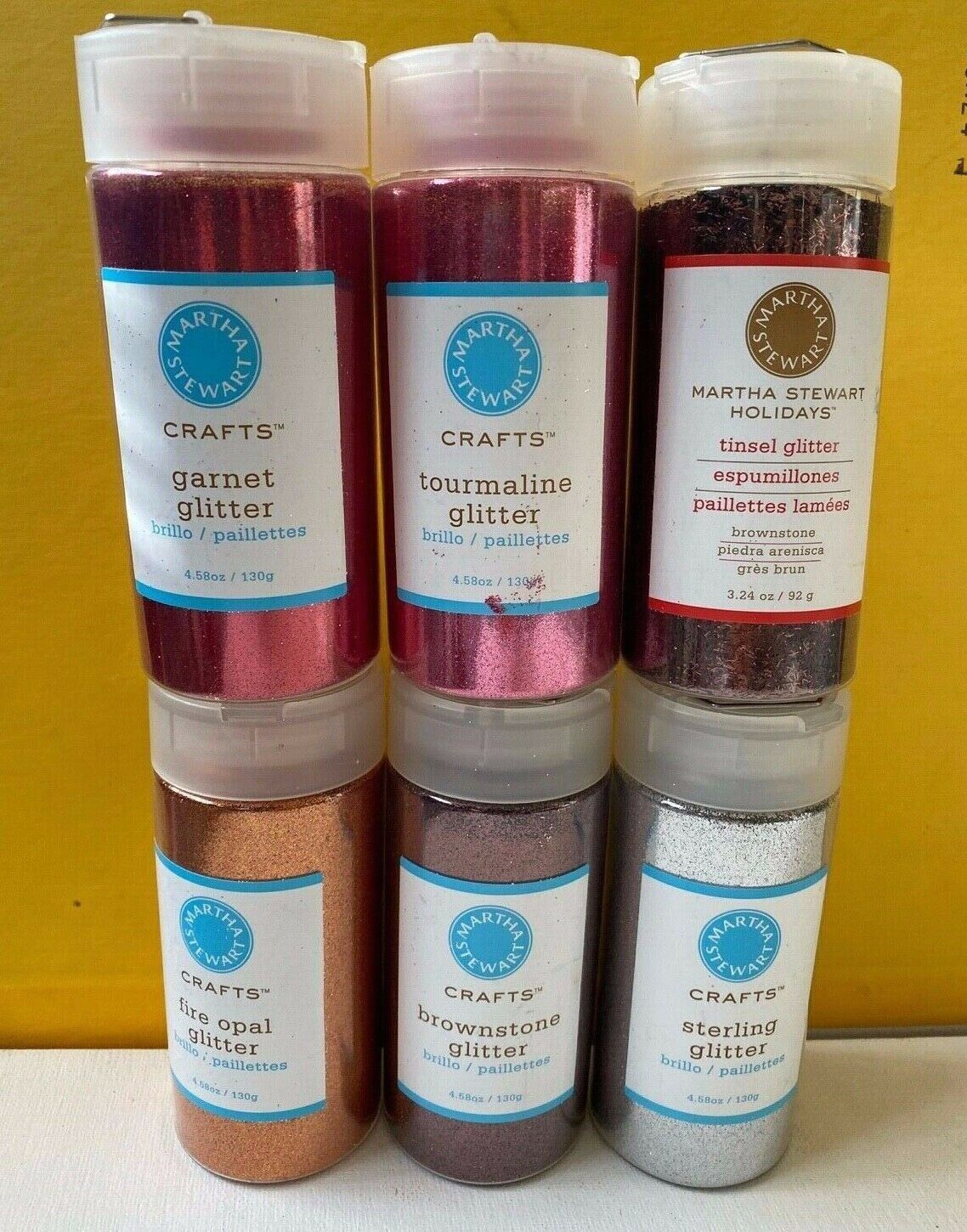 Martha Stewart Crafts 4.58 oz Glitter YOU SELECT large jar garnet sterling