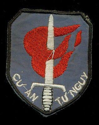 ARVN Cu An Tu Nguy Thu Duc Military Training Vietnam Patch F-3