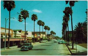 Mercedes-Texas-Main-Street-Cars-1950s-Business-district-Rio-Grande-Valley