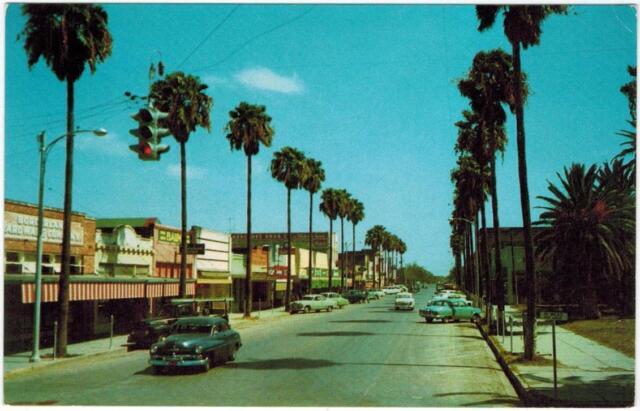 Mercedes Texas Main Street Cars 1950s Business district ... |Rio Grande Valley Cars