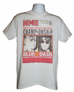 9d14db90 BLUR VS OASIS T-SHIRT NME INDIE BRITPOP 90s VTG PARKLIFE MORNING ...