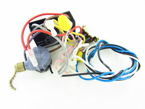 23 Used Hampton Bay Ceiling Fan Wiring Harness With Switches Capacitor Parts Ebay