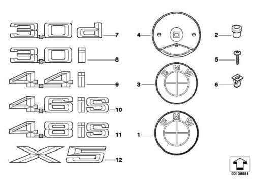4.8IS X5 Original BMW 51147138627 Emblem geklebt links