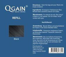Qgain Haarfasern Microhairs 50g Nachfüllbeutel SCHWARZ zur Haarverdichtung