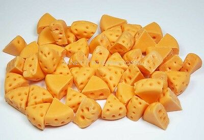 Doll Mini Food Tiny Yellow Cheese 10pcs Dollhouse Miniature Cheese Slices