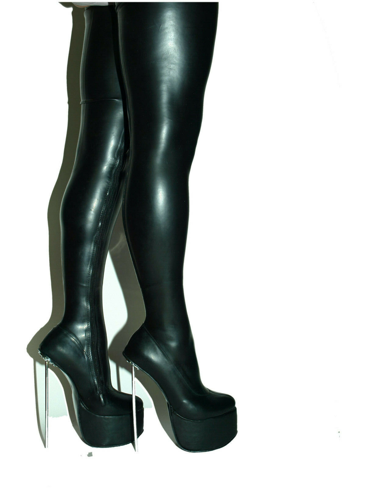 PROMOTIONS LATEX RUBBER HIGHS BOOTS  SIZE 5-16 HEELS-8 -  20cm PRODUCE POLAND