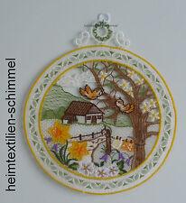 Plauener punta ® finestra Immagine Primavera Fiori Rotondo paesaggio Pasqua Fensterdeko
