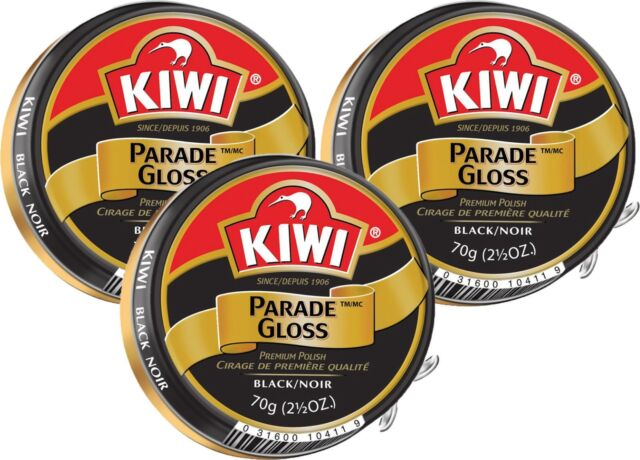 classic style big discount quite nice 3 Pack - Kiwi Black Large Parade Gloss 2.5 oz Premium Shoe Polish