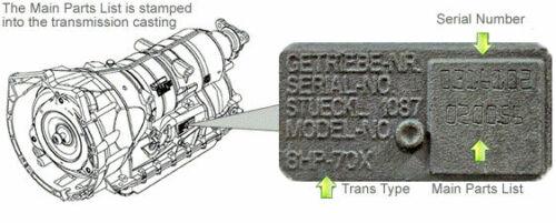 D 8hp45//45x//50//50x//70//70h//70x//8hp75//75h Kit de réparation pour Mécatronique 3 pces