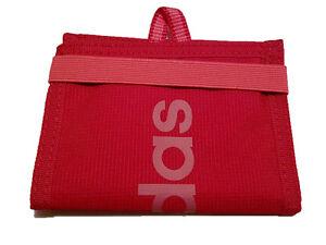 939ac13bf8fb7 Das Bild wird geladen Adidas-Linear-Performance-Wallet-Geldboerse- Portemonnaie-Pink-Neu