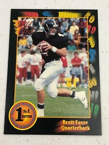 1991 NFL Wild Card Brett Favre Green Bay Packers Rookie Trading Card LP