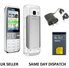 New Condition Nokia Brand C5-00 GOLD 5MP Bluetooth FM Radio 3G Unlocked Phone