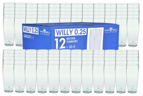 120er Set Bierglas Willibecher 0,25l geeicht Biergläser Glas Gastronomie Gläser