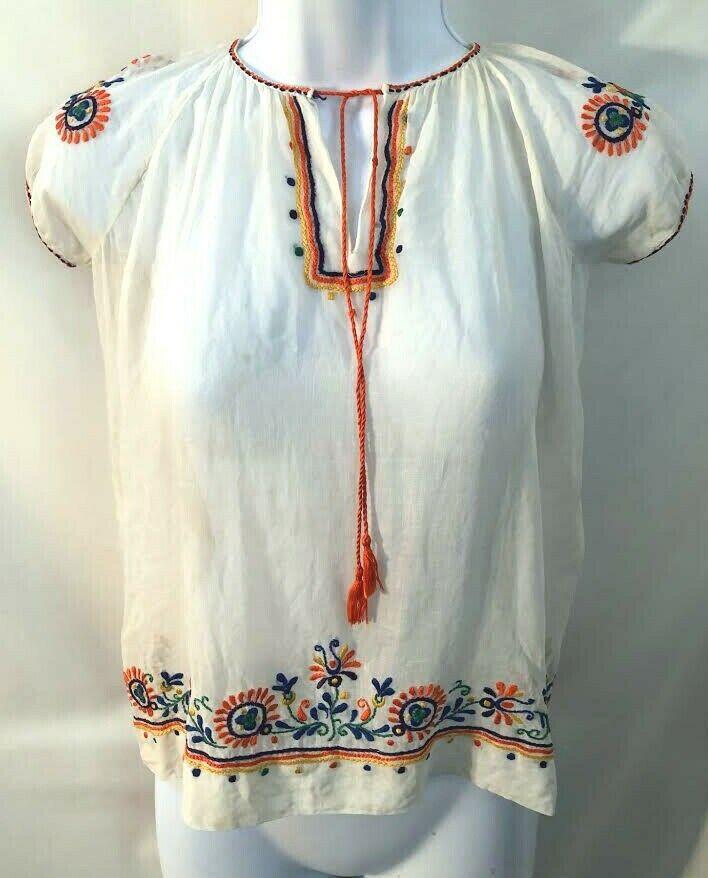 Vintage 1970s Hungarian embroidered tie tassel Pe… - image 1