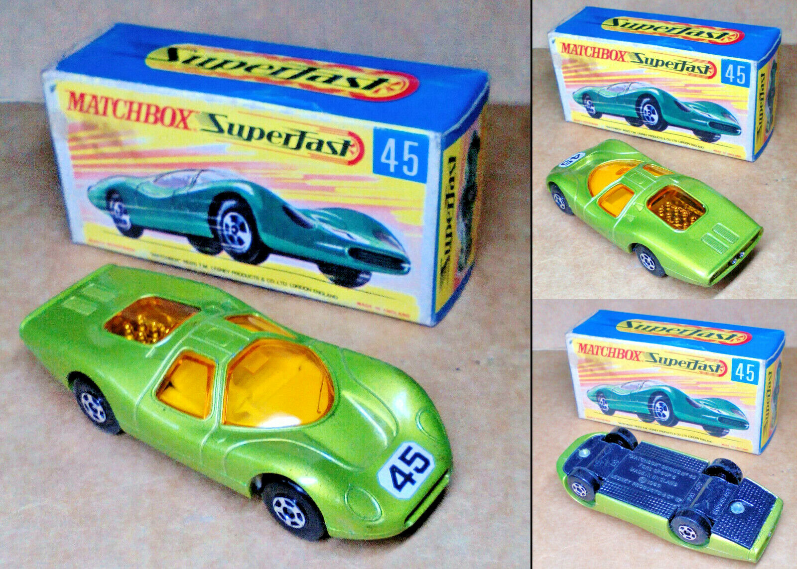 marca 1 VINTAGE ('70s) MATCHscatola SUPERFAST - NO.45 -    FORD GROUP 6  - MINT IN scatola  l'intera rete più bassa