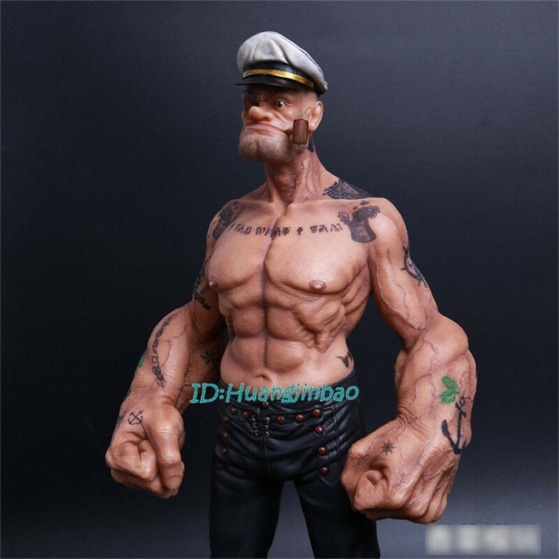 Popeye 1 6 6 6 Scale Painted Resin Figurine Headplay 12'' Model Sculpture Collection 01d9d0