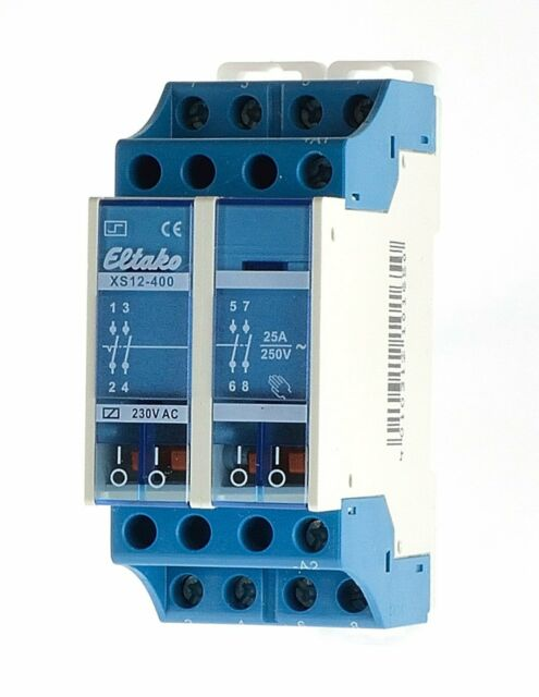 Eltako XS12-400-230V AC Stromstoßschalter 16A 4 Schließer