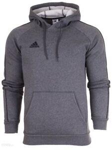 Adidas-Core-18-Mens-Hoodie-Fleece-Sweatshirt-Hood-Grey