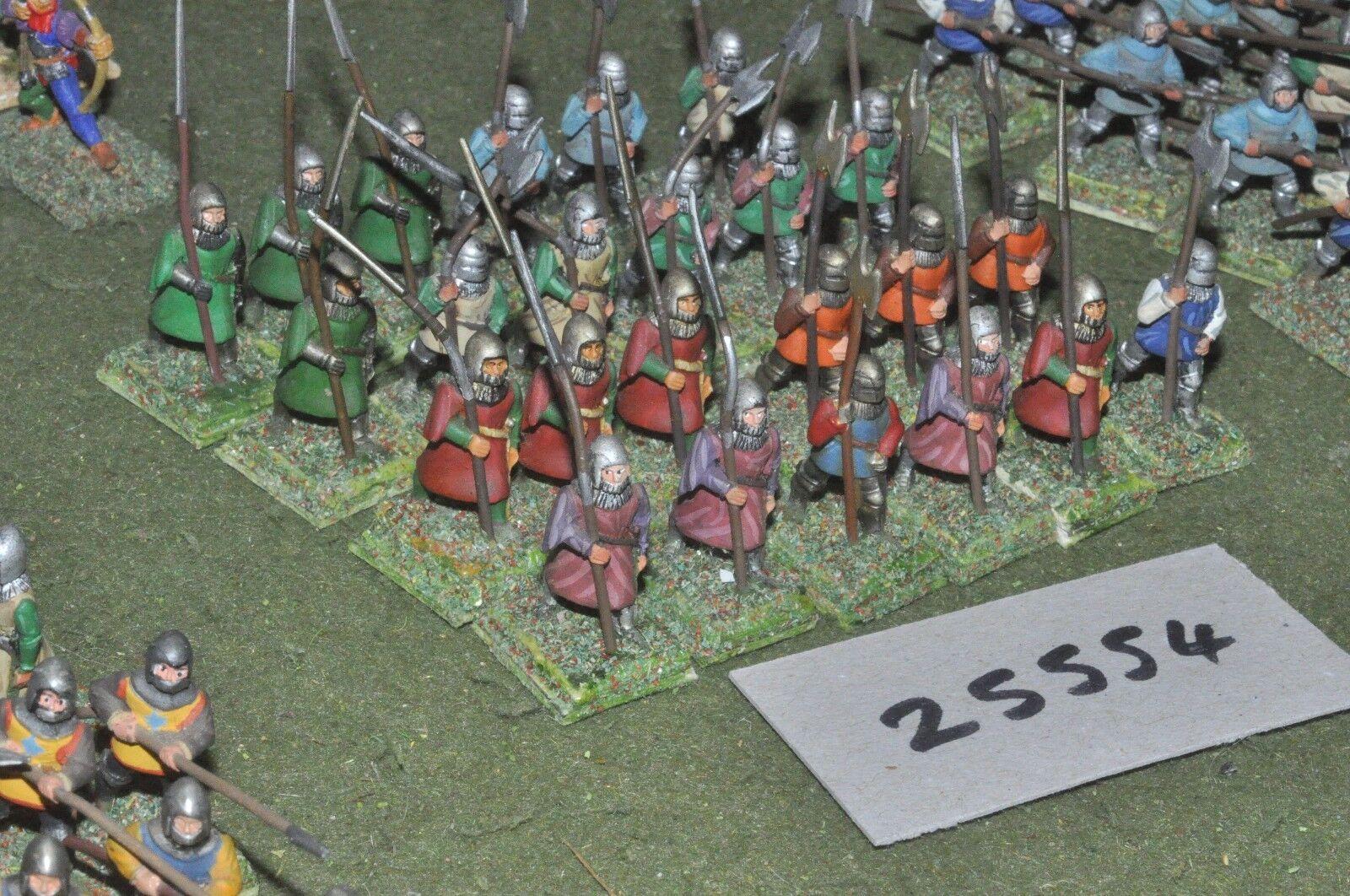 25mm medieval   english - halberdiers 24 figures - inf (25554)