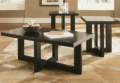 Criss Cross Coffee Table.Good Looking 3 Pcs Wood Structure Coffee Table Set With Crisscross Base Design Ebay