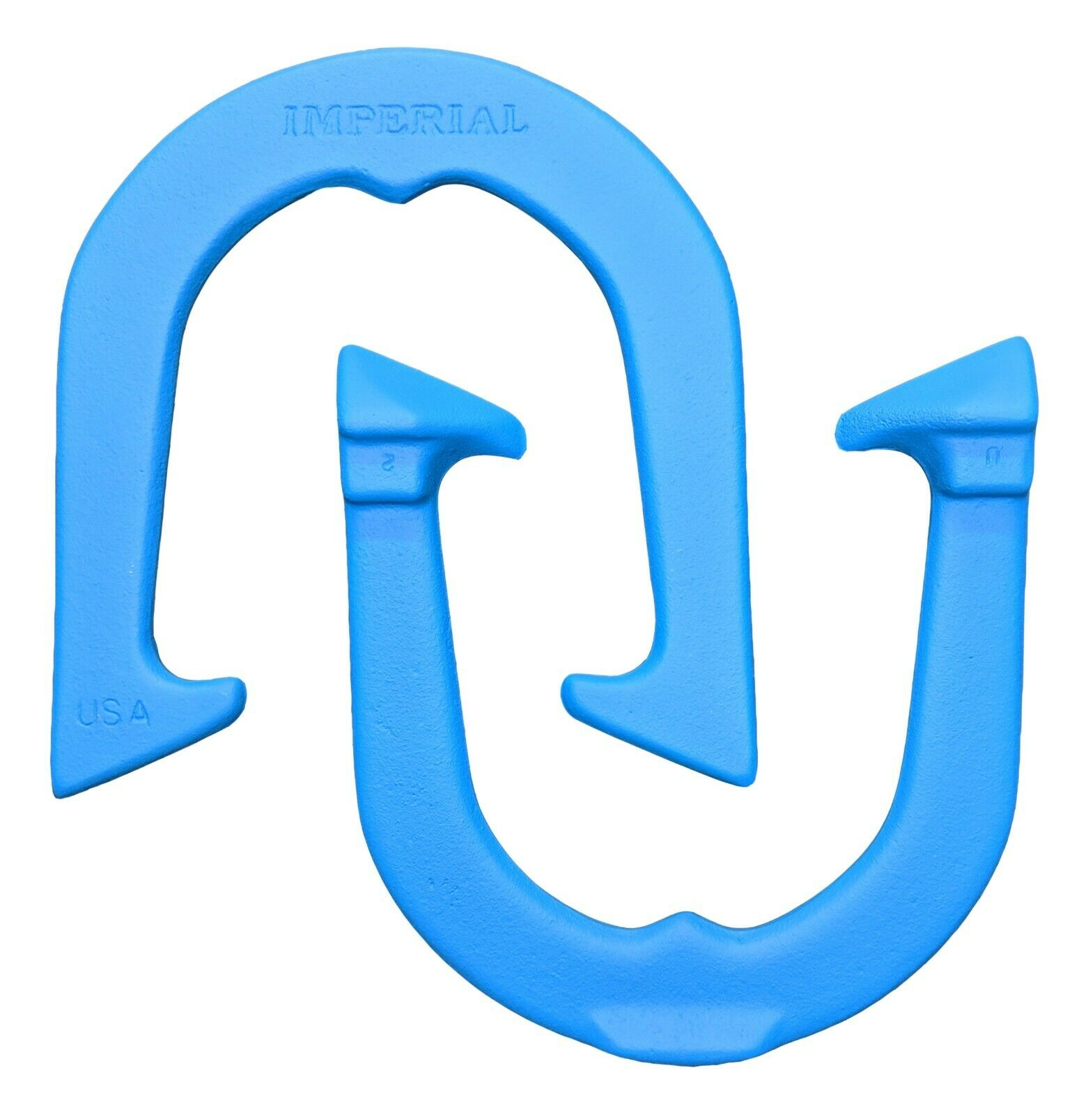 Imperial Horseshoes- bluee, One Pair (two shoes) Made in USA