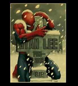 Marvel-Superhelden-Spiderman-Stan-Lee-Bild-Poster-Film-Superhero-selten-Deko-Neu