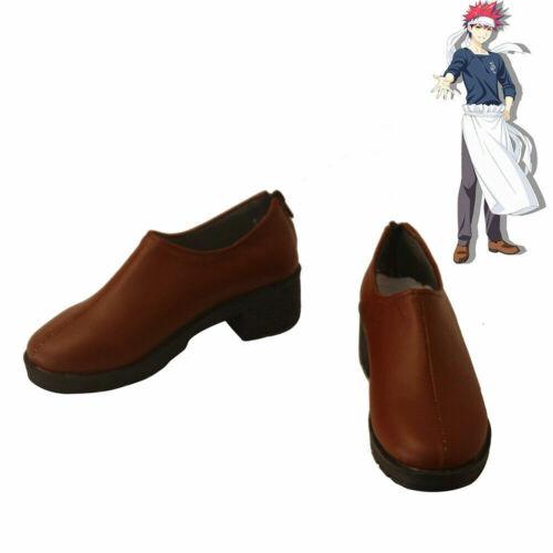 Food Wars Shokugeki no Soma Yukihira Soma Cosplay Shoes Men Boots