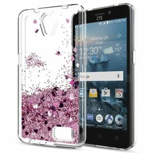 Details about For ZTE Blade Z MAX / Maven 3 / Avid 4 Glitter Liquid  Quicksand TPU Case Cover