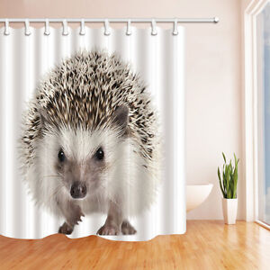 Image Is Loading Cute Hedgehog Shower Curtain Bedroom Waterproof Fabric Amp
