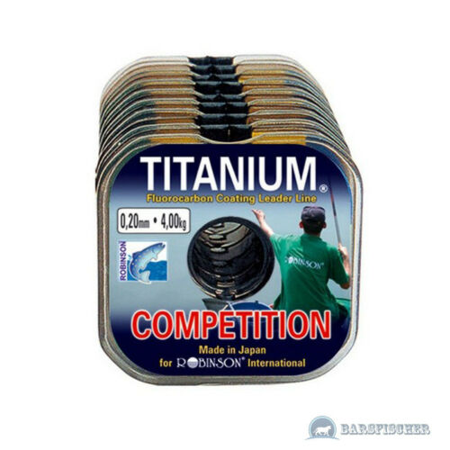0,08€//m 25m ROBINSON TITANIUM COMPETITION VORFACHMATERIAL FLUOROCARBON COATED