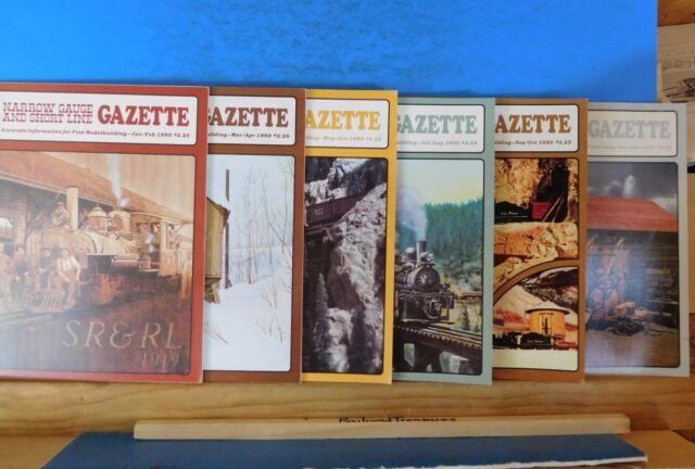 Narrow Gauge & Short Line Gazette Complete Year 1980 6