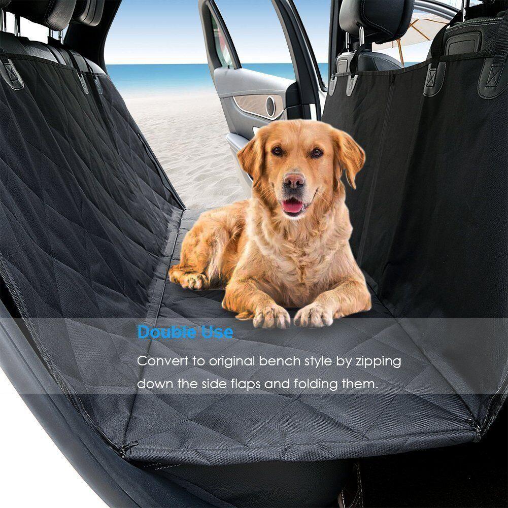 Black Waterproof Car Rear Back Seat Cover for Pet Dog Protector Boot Mat Liner