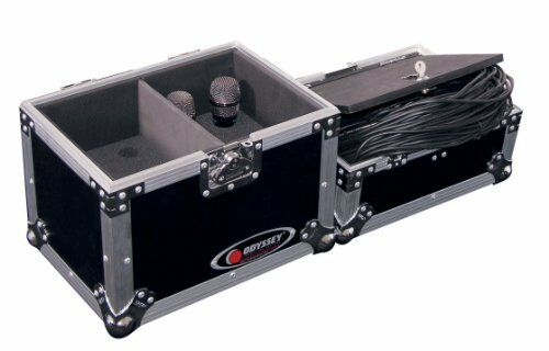 ODYSSEY FZMIC12 ATA MIC CASE HOLDS 12 MICS AND HAS LOCKED COMPARTMENT FOR CABLES