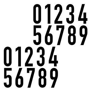 20-Autocollant-6cm-Noir-din-1451-Chiffres-Numero-N-de-Domicile-Verkehrsschrift