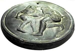 Roman Empire (ancient Medal Plaque) Sicily School Dissipation Rapide De La Chaleur