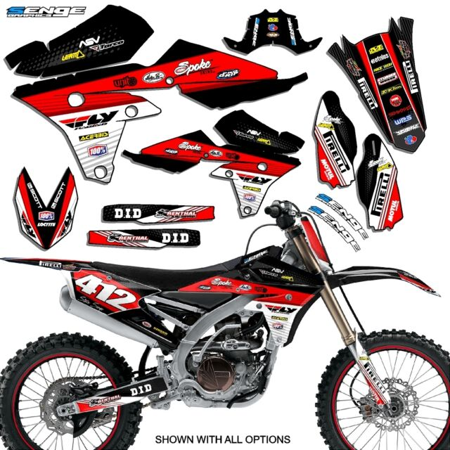 YAMAHA 3D RED BADGE LOGO STICKERS GRAPHICS DECALS MX ENDURO MOTOCROSS SUPERBIKE