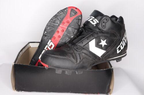 Vintage Noir Taille 12 Crampons New Tripper Mens Baseball Converse des années 90 Round MMid xQdCBoeWr