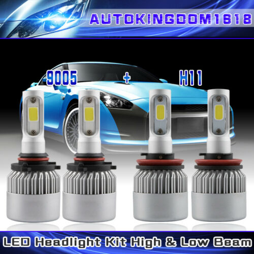 9005 H11 Hi-Lo Beam Combo LED Headlight COB Bulbs 480W For Ram 1500 2500 3500