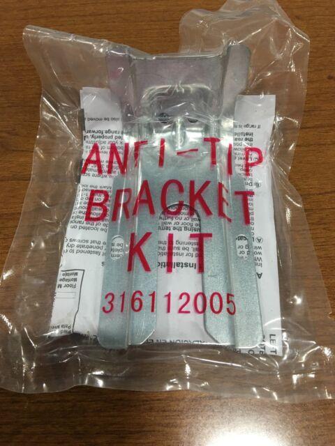 "New Frigidaire Range Anti-tip Bracket 5/"" x 2/"" 316112005 316112004"