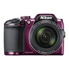 Nikon Coolpix B500 16MP Digital Camera 40x Optical Zoom Purple Full-HD WiFi/ NFC