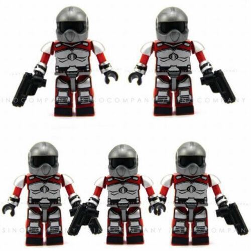 Lot 5PCS GI JOE KRE-O FIREBAT PILOT RETRO KREON Cobra MINI FIGURE Boy Cute Toy
